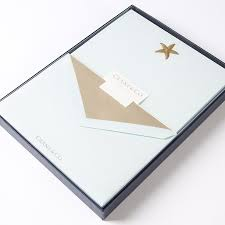 starfish engraved flat correspondence cards by crane co set of 15