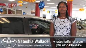 lexus of rockville general manager introducing sales associate nateshia wallace millennium toyota