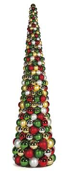 10 foot multi cone tree green silver gold mixed