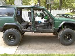lifted jeep green the green machine jeep cherokee forum