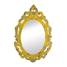 Decorative Mirrors For Living Room by Mirrors For Wall Decor Framed Oval Wall Mirror Unique Vintage