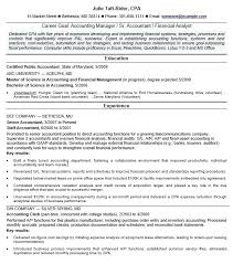 sample resume for accounting staff staff accountant resume example