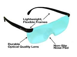 magnifying eyeglasses with light as seen on tv new big vision magnifying eyewear glasses see 160 more better in