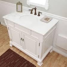 Bathroom Vanities 42 Harlow Single 42 Inch Traditional Bathroom Vanity White