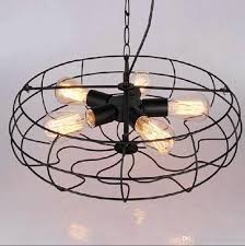 discount industrial vintage metal fan pendant lamp steampunk