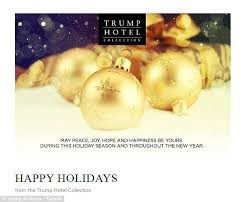 donald trump u0027s christmas card says u0027merry christmas u0027 and u0027happy