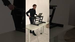 devaise height adjustable standing desk computer riser with