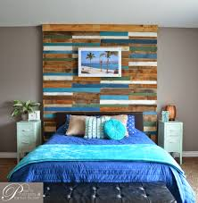 how to make a mirror headboard remodelaholic colorful and rustic plank headboard wall