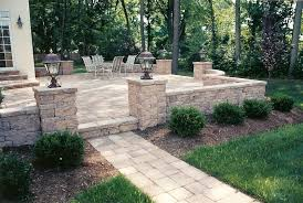 Small Backyard Patio Landscape Ideas The Patio Design Included A Raised Patio With A Custom Walkway
