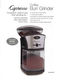 How To Grind Coffee Without A Coffee Grinder Amazon Com Capresso Coffee Burr Grinder Kitchen U0026 Dining