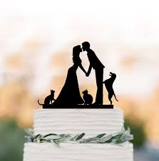 cat wedding cake topper wedding cake topper with cat wedding cake topper with dog