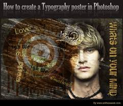poster design with photoshop tutorial typography poster design