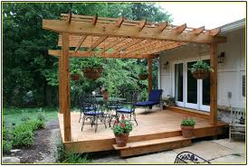 Deck With Pergola by Interesting Outdoor Deck Shades Design Ideas With Wooden Pergola
