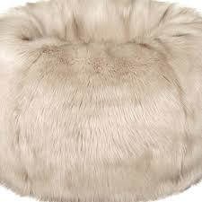giant faux fur beanbag oyster