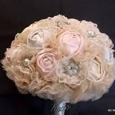 Shabby Chic Wedding Bouquets by Wedding Bouquet Bridal Bouquet Fabric Bouquet Shabby Chic Pink