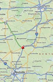 map ky and tn 2 i 65 corridor from nashville tn to bowling green ky and