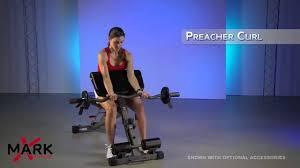 xmark ab hyperextension preacher curl bench xm 7631 bench or home