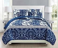 California King Quilts And Coverlets Blue King Size Coverlets And Quilts Amazon Com
