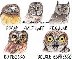 Owl Lovers by Instant Digital Download Funny Wall Art Owl Caffeine Meter