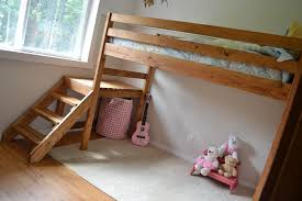 Build Your Own Wood Bunk Beds by Ana White Camp Loft Bed With Stair Junior Height Diy Projects