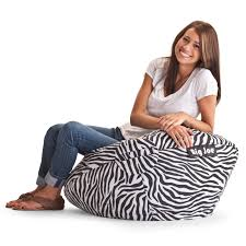 big joe 98 in bean bag lounger zebra hayneedle