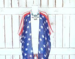 American Flag Cardigan Flag Kimono Etsy