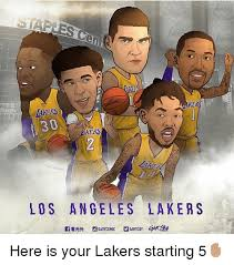 Lakers Meme - takers 30 rs os angeles lakers here is your lakers starting 5