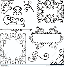 wrough iron ornaments illustration 3739415 megapixl