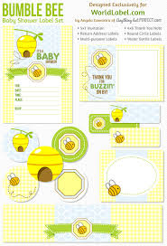 bumblebee baby shower baby shower labels in a bumble bee boys theme worldlabel