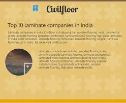 top 10 laminate companies in india visual ly