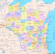 Map Of Usa And Cities by Map Of Wisconsin Cities Road Map Counties Wisconsin State Map