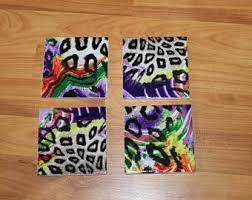 Giraffe Print Home Decor Leopard Coasters Etsy