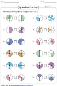fraction printable worksheets equivalent fraction worksheets