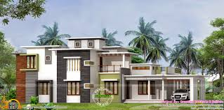 Low Cost House Design by Absolute Flat Roof House Kerala Home Design And Floor Plans
