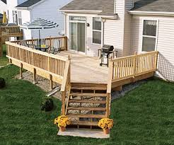 Corner Deck Stairs Design Okay For Back Deck But Not For Front Sloped Site Deck With