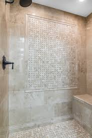 Bathroom Tiling Designs Bathroom Shower Focal Point Tile Cappuccino Niles With Dark