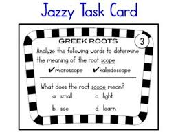what is the latin root meaning light greek latin root jazzy task cards by reading with debbie tpt