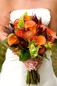 vibrant fall wedding flowers cherry marry