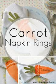 spring crafts carrot napkin rings peace but not quiet