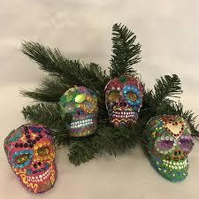 sugar skull xmas ornaments u2014 corazonconpatas