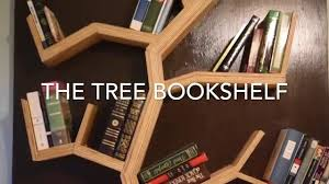 Build Wooden Bookcase by Diy How To Make A Tree Bookshelf Youtube