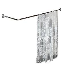 Two Sided Shower Curtain Rod Two Sided Shower Curtain Rod Chrome Plated Brass 7 8