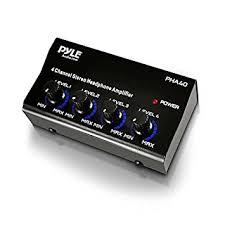 black friday stereo amazon amazon com pyle pro pha40 4 channel stereo headphone amplifier