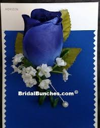 royal blue boutonniere royal blue boutonniere for wedding or prom flowers
