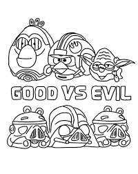 angry bird star wars good evil coloring pages