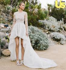 wedding day dresses port wore a high low dress on wedding day see the photo