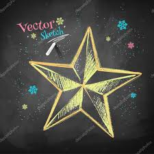 sketch of christmas star u2014 stock vector sonya illustration 89532158