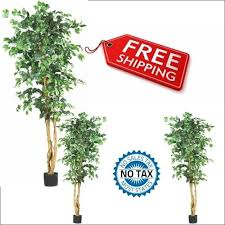 details about nearly 5209 ficus silk artificial tree green