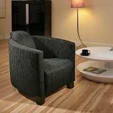 Tub Armchair Modern Large Charcoal Black Fabric Armchair Armchairs Tub Chair