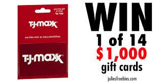 win a t j maxx gift card julie u0027s freebies
